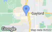Map of Gaylord, MI